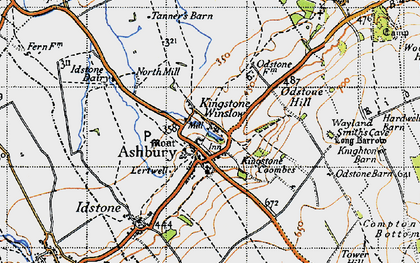 Old map of Ashbury in 1947