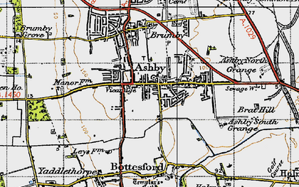 Old map of Ashby in 1947
