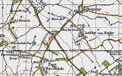 Old map of Ashby Hill in 1946