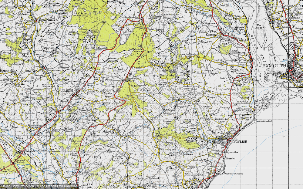 Old Map of Ashcombe, 1946 in 1946