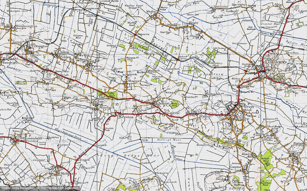 Old Map of Ashcott, 1946 in 1946