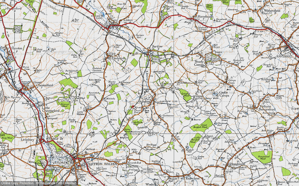 Old Map of Ashdon, 1946 in 1946