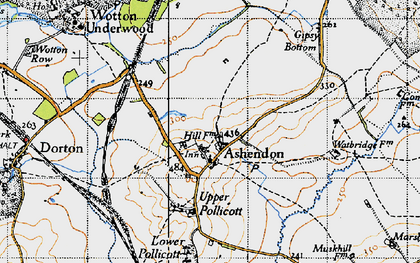 Old map of Ashendon in 1946