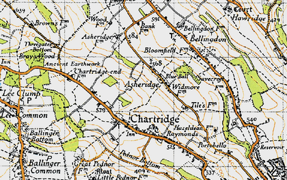 Old map of Asheridge in 1946
