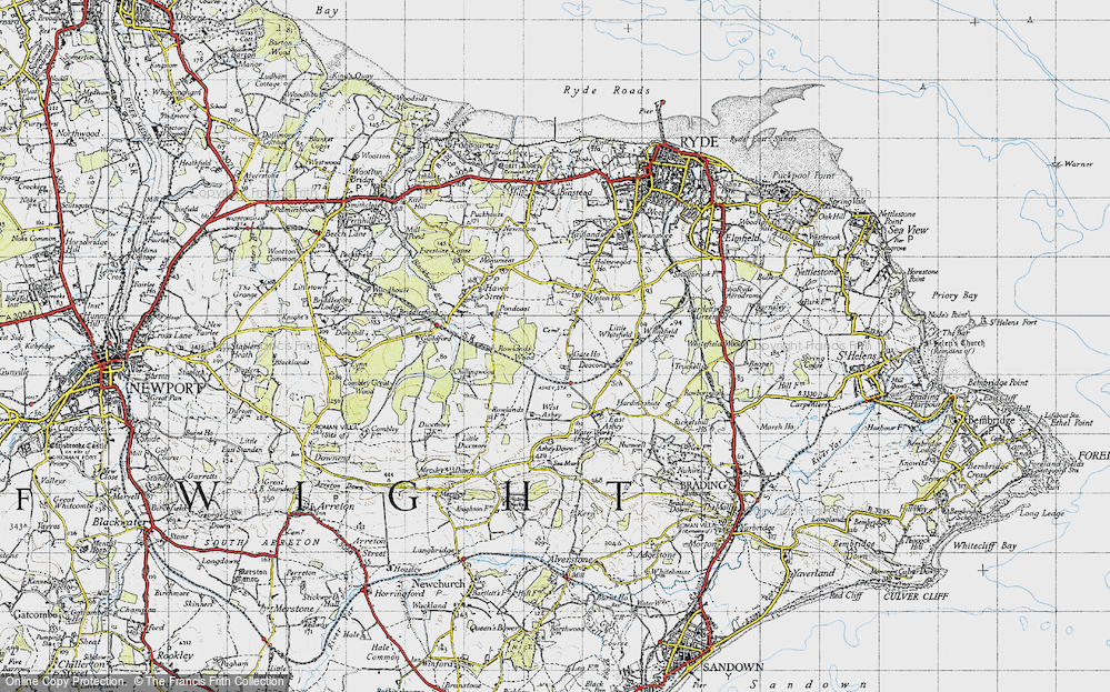 Old Map of Ashey, 1945 in 1945