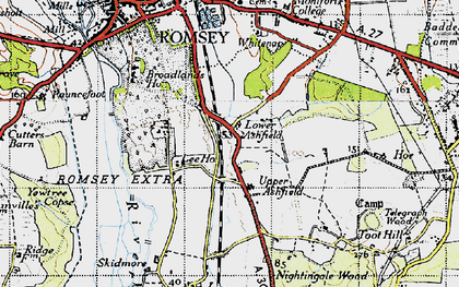 Old map of Ashfield in 1945