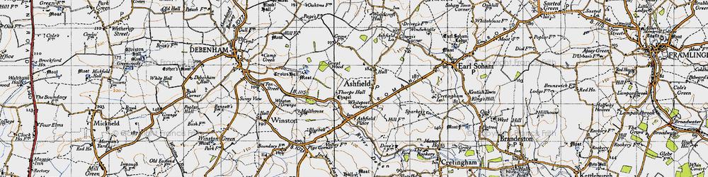 Old map of Whitepost Corner in 1946