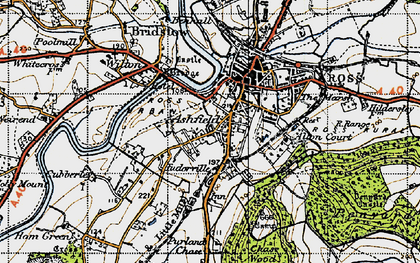 Old map of Ashfield in 1947