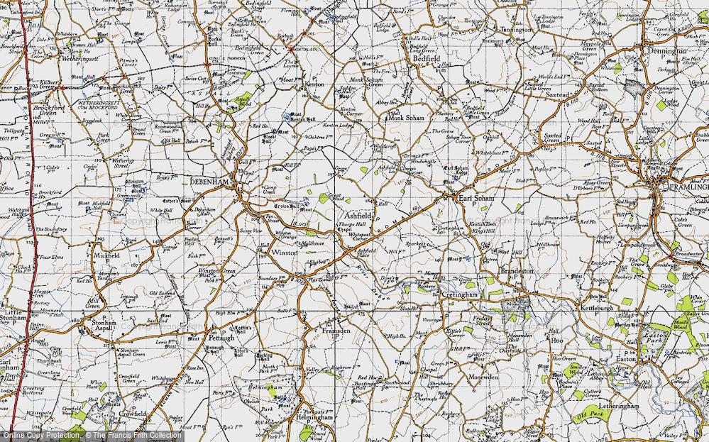 Old Map of Ashfield Cum Thorpe, 1946 in 1946
