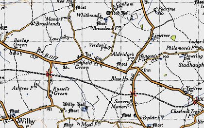 Old map of Ashfield Green in 1946