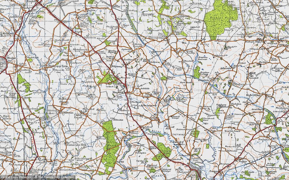 Old Map of Ashfields, 1946 in 1946