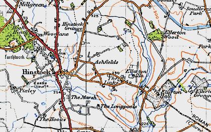 Old map of Ashfields in 1946
