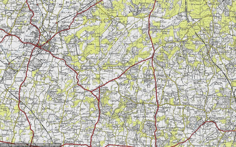 Old Map of Ashfold Crossways, 1940 in 1940