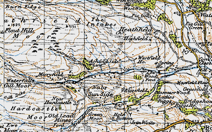 Old map of Ashfold Side in 1947