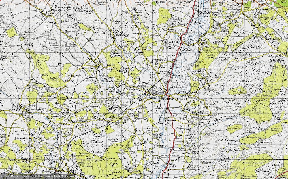 Old Map of Ashford, 1940 in 1940