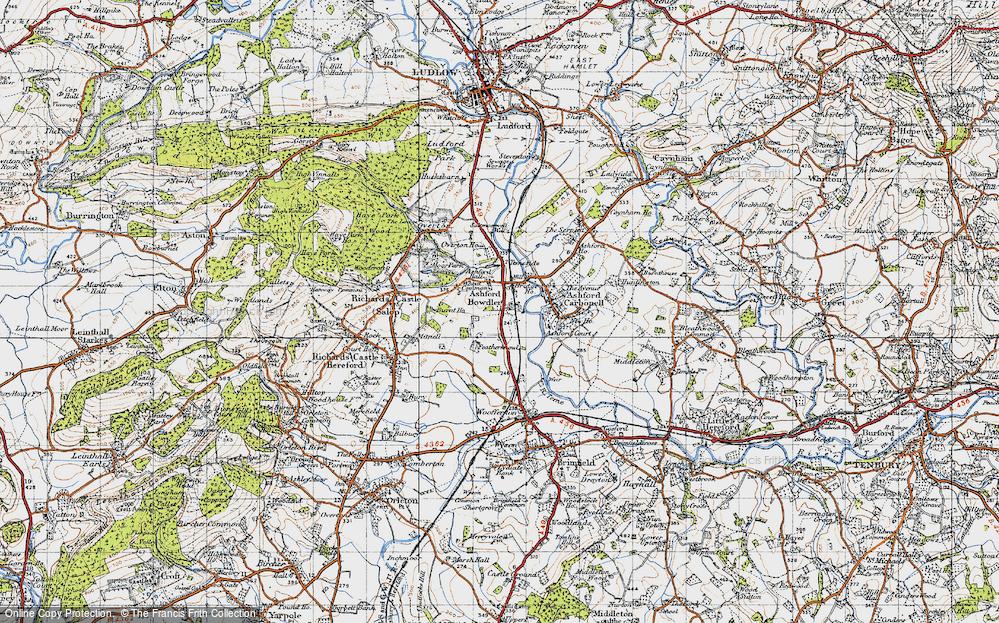 Old Map of Ashford Bowdler, 1947 in 1947