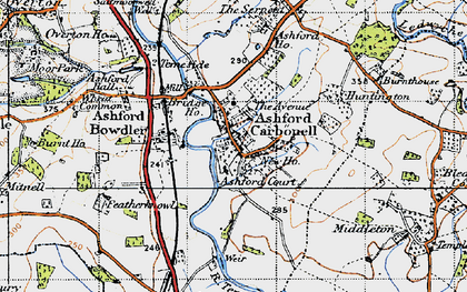 Old map of Ashford Court in 1947
