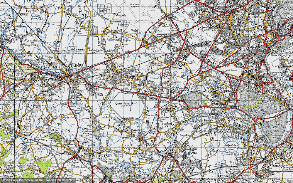 Old Map of Ashford Common, 1940 in 1940