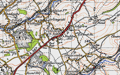 Old map of Ashgrove in 1946
