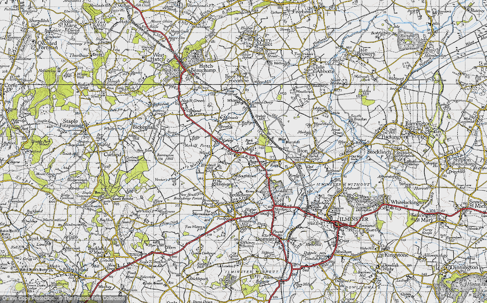 Old Map of Ashill, 1945 in 1945