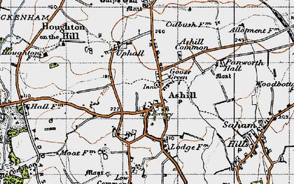 Old map of Ashill Common in 1946
