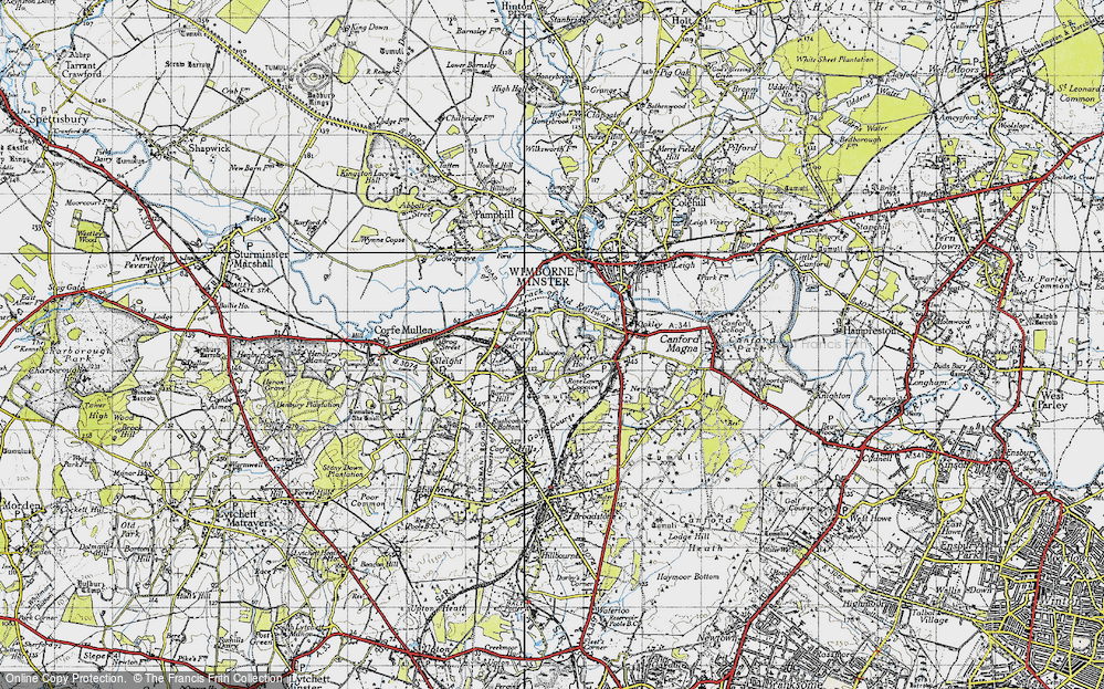 Old Map of Ashington, 1940 in 1940