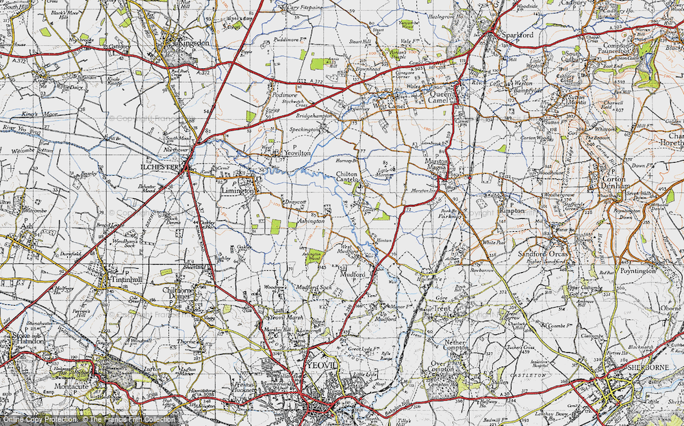 Old Map of Ashington, 1945 in 1945
