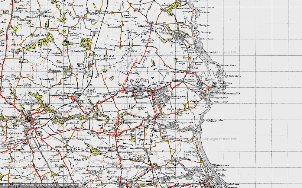 Old Map of Ashington, 1947 in 1947