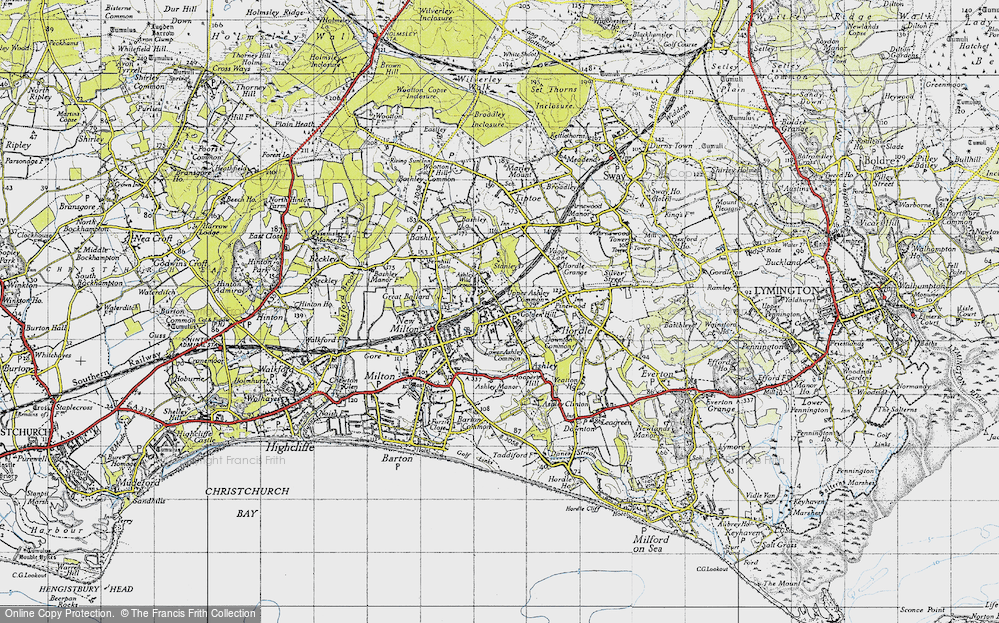 Old Map of Ashley, 1940 in 1940