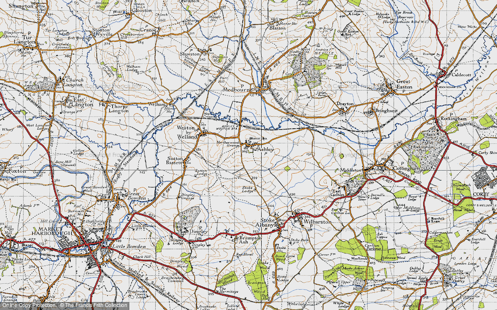 Old Map of Ashley, 1946 in 1946