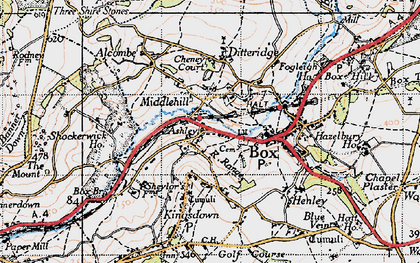 Old map of Ashley in 1946