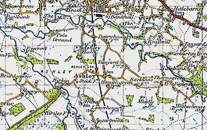 Old map of Ashley in 1947