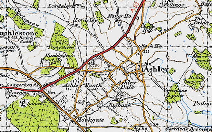 Old map of Ashley Dale in 1946