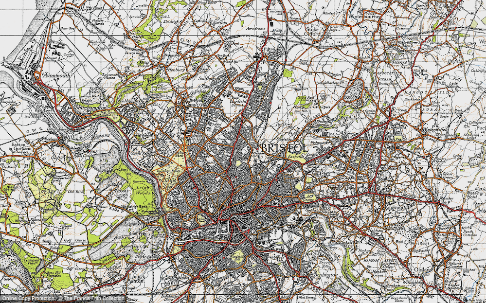 Old Map of Ashley Down, 1946 in 1946