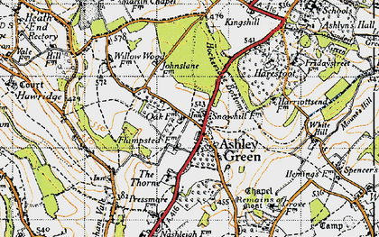 Old map of Ashley Green in 1946