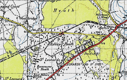 Old map of Wools Br in 1940