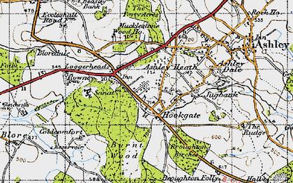 Old map of Ashley Heath in 1946