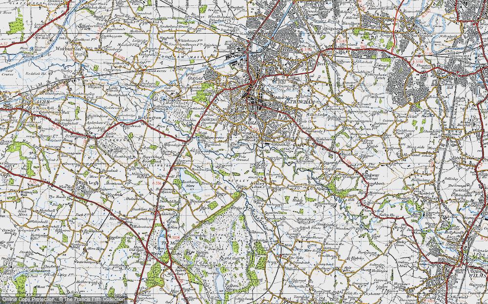 Old Map of Ashley Heath, 1947 in 1947