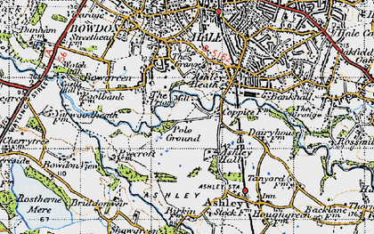 Old map of Ashley Heath in 1947