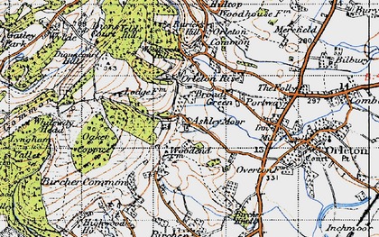 Old map of Ashley Moor in 1947