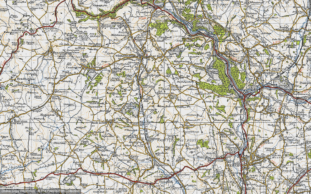 Old Map of Historic Map covering Lane End in 1946