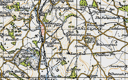 Old map of Ashleyhay in 1946