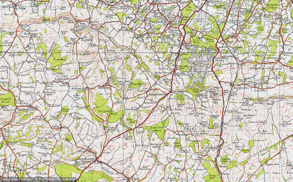 Old Map of Ashmansworth, 1945 in 1945