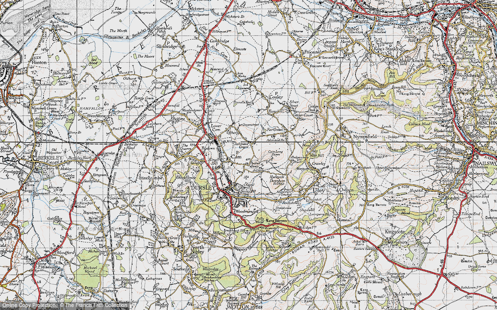 Old Map of Ashmead Green, 1946 in 1946