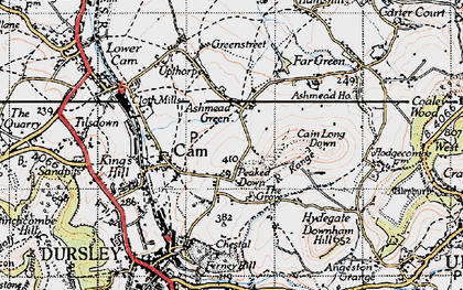 Old map of Ashmead Green in 1946