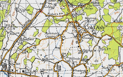 Old map of Ashmore Green in 1945