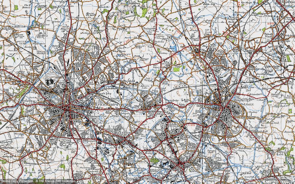 Old Map of Ashmore Lake, 1946 in 1946