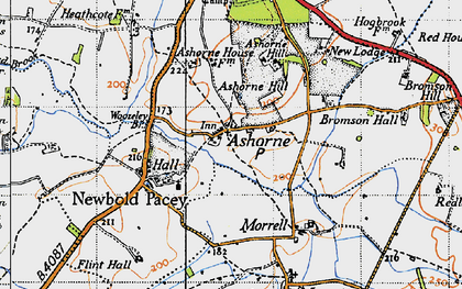 Old map of Ashorne Hill College in 1946