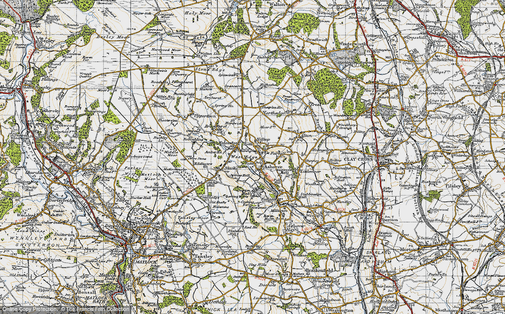 Old Map of Ashover, 1947 in 1947