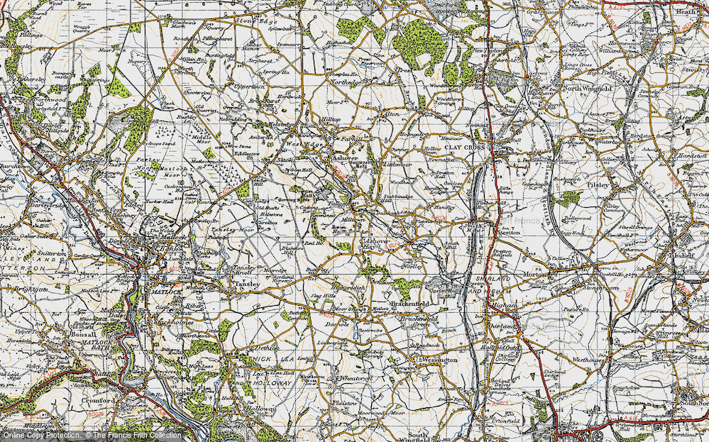 Old Map of Ashover Hay, 1947 in 1947